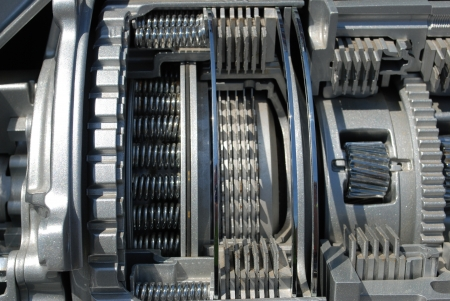 automatic machine: section of the automatic transmission