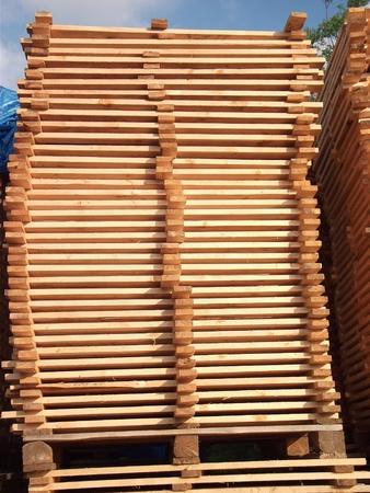 arbre: arranged boards in a sawmill