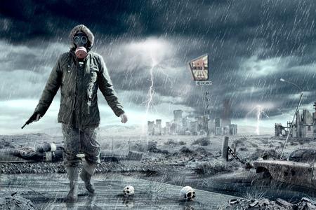 Illustration einer Apokalypse postnukleäre Doomsday-Szenario.