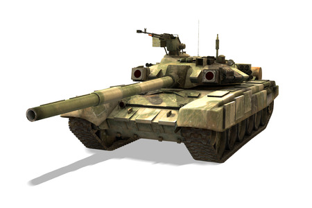 pacto: 3D rendering of the Russian modern military tank T-90. Foto de archivo