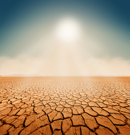 Dry salt sea desert landscape, background, global warming concept, 3d render