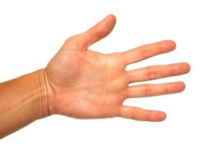 show of hands: Gesto popolare  Archivio Fotografico