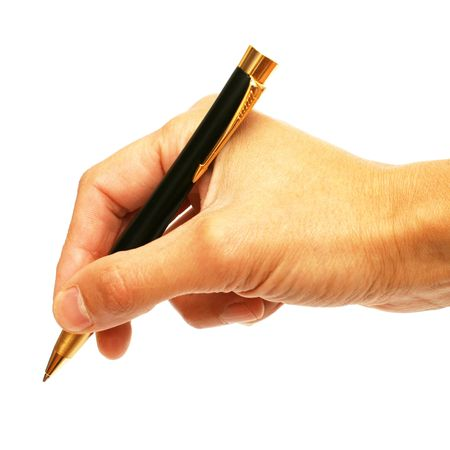 Writing hand Stock Photo
