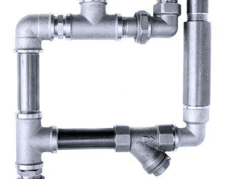 tuberias de agua: Tuber�as de agua sobre un fondo blanco