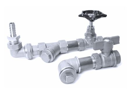 Water pipes on a white background  photo