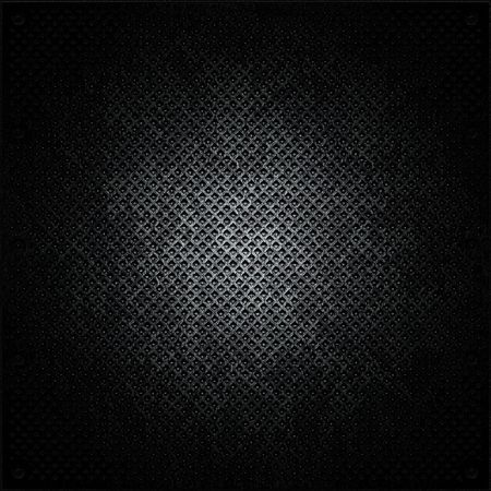 brick work: black metal surface  Stock Photo