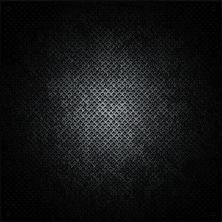 brick floor: superficie de metal negro