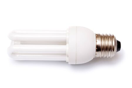 Electric power saving up bulb on a white background  photo