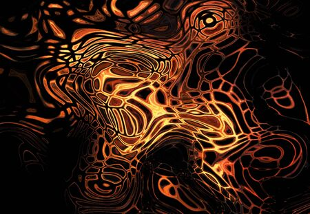 fiery drawing  photo
