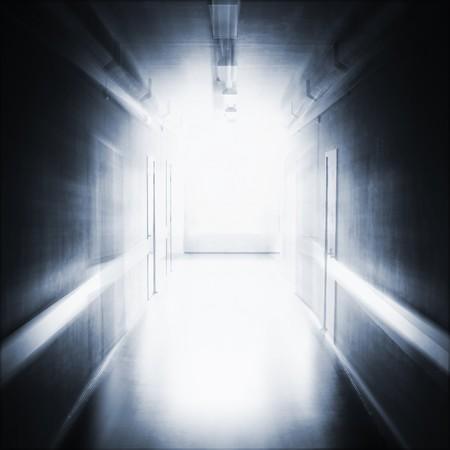 open hole: Dark corridor Stock Photo