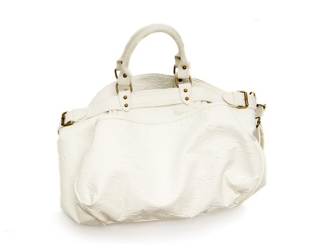 Leather bag on a white background photo