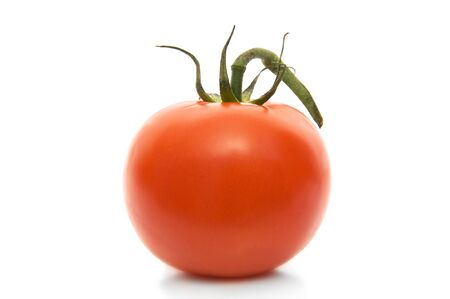 Red tomato on a white background Stock Photo - 7497813
