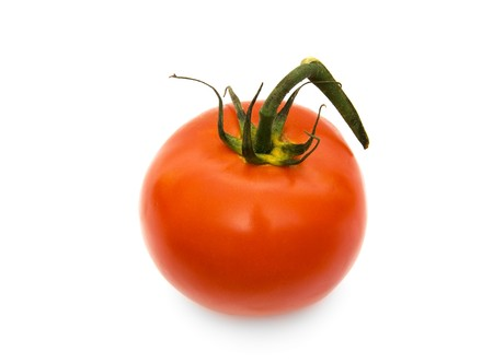 Red tomato on a white background Stock Photo - 7532319