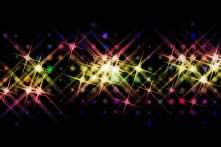 flare light: abstract image of light beams with use of a colour gradient
