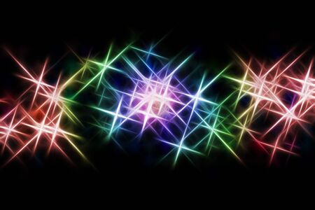 abstract image of light beams with use of a colour gradient