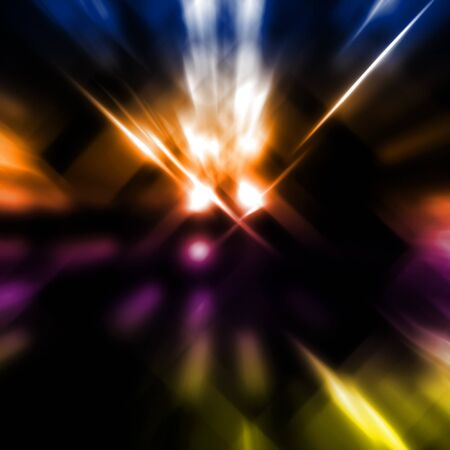 abstract image of light beams with use of a colour gradient photo