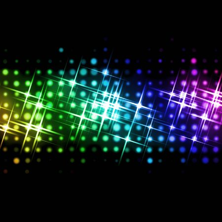 rainbow color star: abstract image of light beams with use of a colour gradient