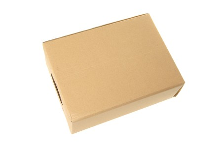 Box from a cardboard on a white background photo