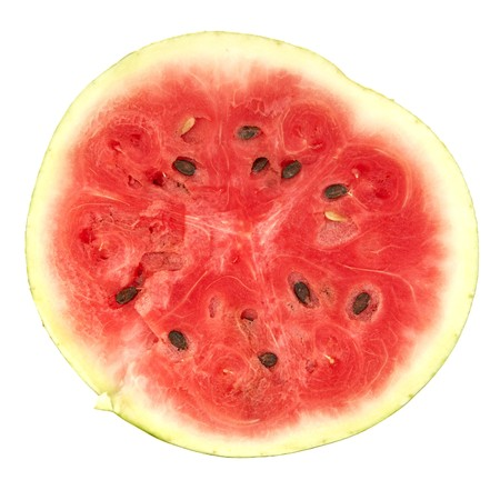 The cut red water melon on a white background Stock Photo - 7728568