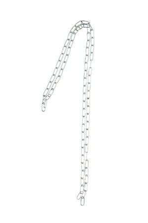 Figure 1 from a metal chain isolated on the white photo