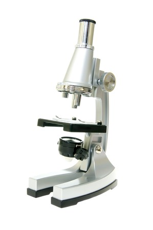 Medical microscope isolated on the white Stock Photo