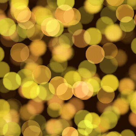 blurry lights: Yellow dim light stains Stock Photo