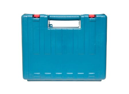 Blue box for tools isolated on the white photo