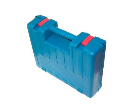 Blue box for tools isolated on the white Stock Photo - 8130972
