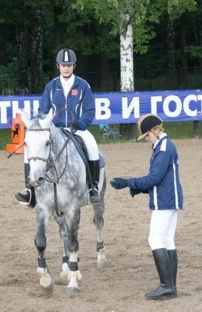 concurrencer: 08 08 2009 RUSSIE, MOSCOU sportifs en comp�tition dans le sport �questre Editeur