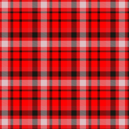 The image of the Scottish fabric of red color Stock Photo