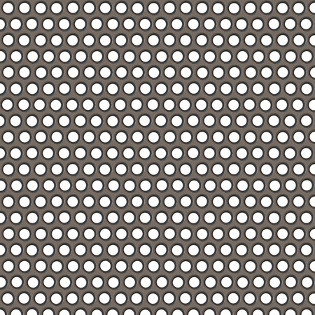 metal surface with holes on a white background photo