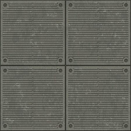 malla metalica: superficie de metal  Foto de archivo