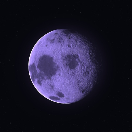 Not complete moon against the night sky close up Stock Photo - 9005882