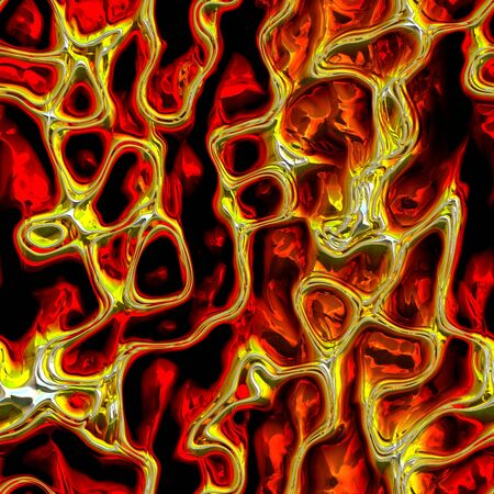 gas fireplace: Abstract fiery pattern on a black background Stock Photo