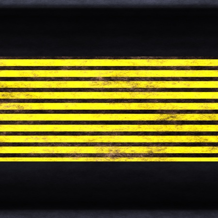 Black yellow protective surface close up . photo