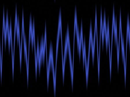 audiowave: sound waves oscillating on black background .