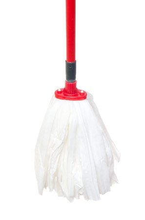 Mop for cleaning isolated on the white Stock Photo - 9280807