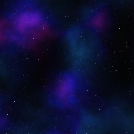 Night sky with blue nebula and stars photo