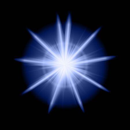 rays light: blue star