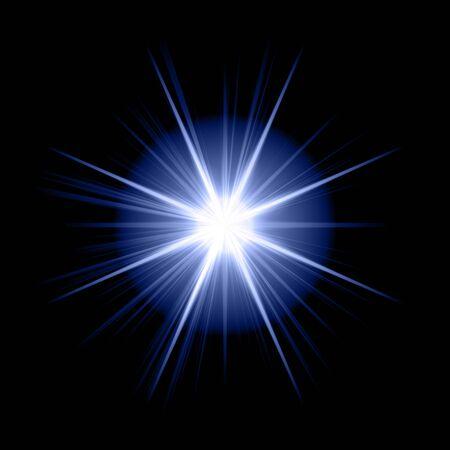 rays background: blue star
