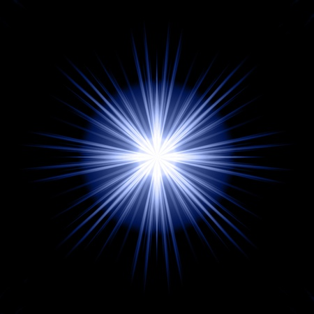 sunrays: blue star