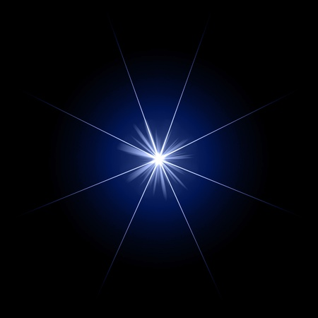 glare: blue star
