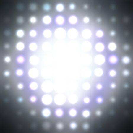 warp: halftone circle pattern