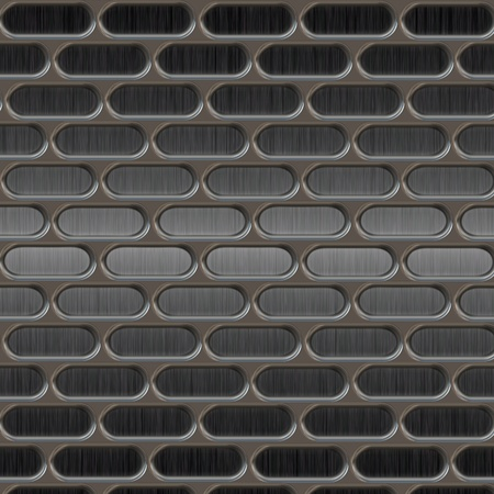 brushed aluminum: Metal texture with holes  Stock Photo