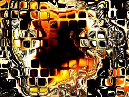 Abstract fiery drawing photo
