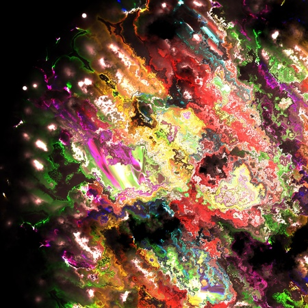saturated color: Abstract color drawing