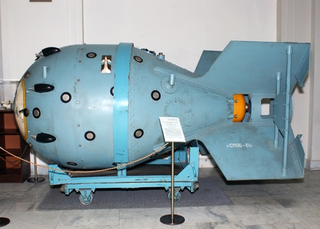 atomic energy: The first Soviet nuclear bomb in a Polytechnical museum in Moscow