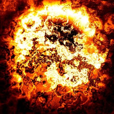 infierno: dibujo ardiente Foto de archivo