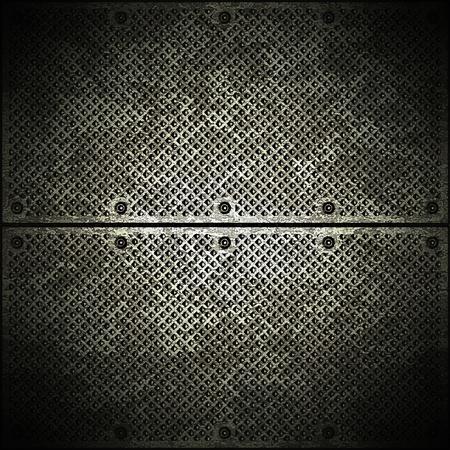 malla metalica: Placa de metal oscuro
