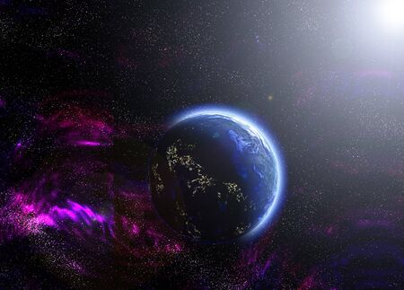 blue abstract planet photo
